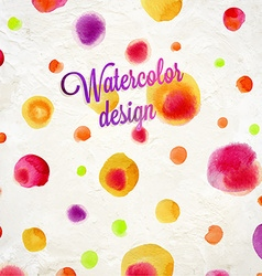 Spotted watercolor background vector