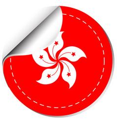 Sticker design for hongkong flag vector