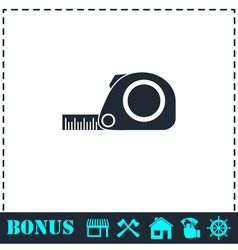 Tape measure icon flat vector image vector image
