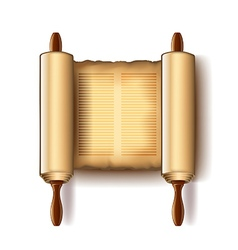 Torah isolated on white vector image