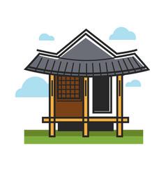 traditional oriental building vector image