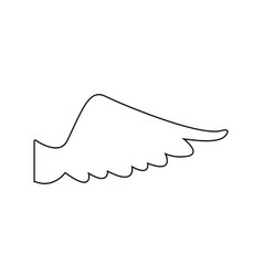 wing feather fly freedon symbol vector image vector image