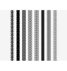 Bike tire tracks vector image