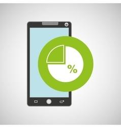 Smartphone app development percent storage vector