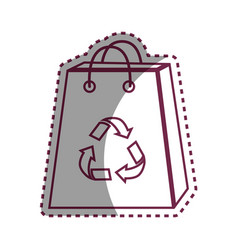 sticker bag with reduce reuse and recycle symbol vector image