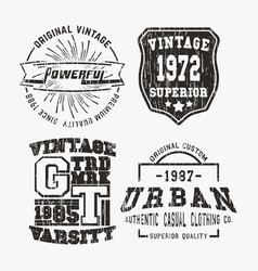 vntage stamp set vector image