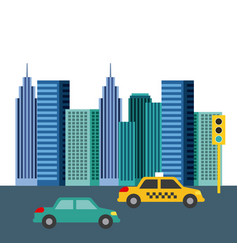 Buildings city skyline image vector