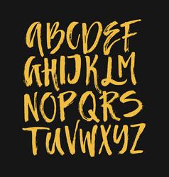 Brushy drawn font vector
