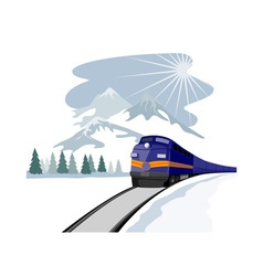 Train and landscape vector