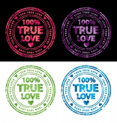 100% true love stamp vector image