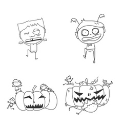 Cartoon happy halloween vector