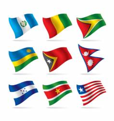 Set of world flags vector