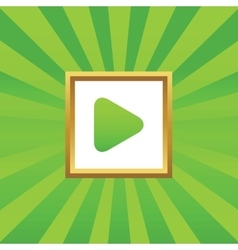 Play picture icon vector