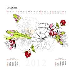 calendar for 2012 december vector image