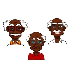 Cartoon joyful seniors and old men vector