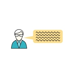 Man with thought bubble vector