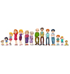 A big extended family vector image vector image
