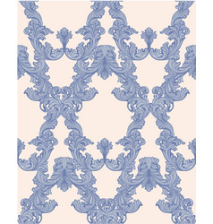 baroque pattern background rich imperial vector image vector image
