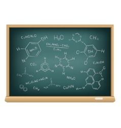 board chemical formula vector image vector image