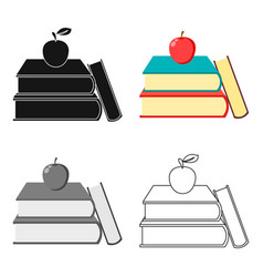 Books icon cartoon single education icon from the vector