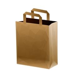 brown shopping bag vector image vector image