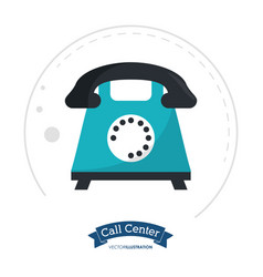 Call center telephone support communication vector