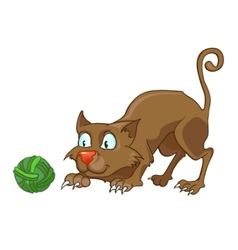 Cartoon character cat vector