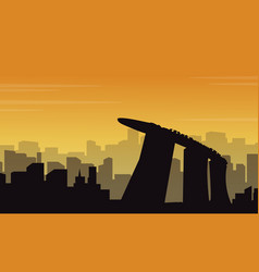Collection mexico city scenery silhouettes vector