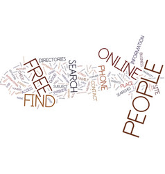 Find people free online text background word vector