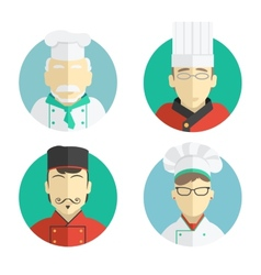flat design the chef icons vector image