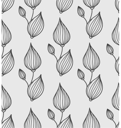 Floral background with stylized leaves vector image vector image