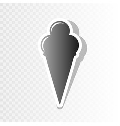 Ice cream sign new year blackish icon on vector