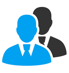 Managers flat icon vector