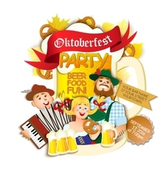Oktoberfest party flyer vector