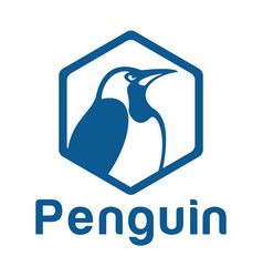 penguin logo design template vector image