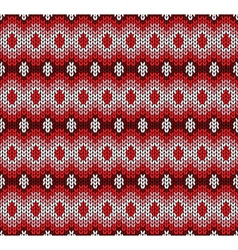 Red knitted pattern vector