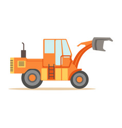 road digger truck machine part of roadworks and vector image vector image