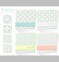 Set of colorful seamless patterns 2 vector