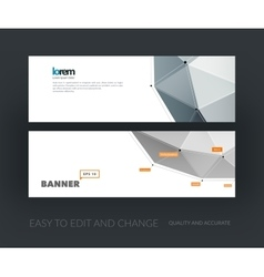 set of modern website banners with vector image