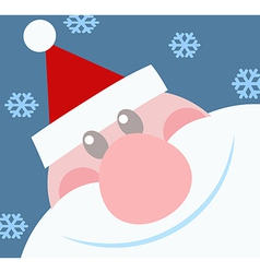 Smiling Santa Claus Head vector image