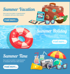 summer holiday banners set vector image