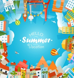 Travel concept hello summer vacation vector