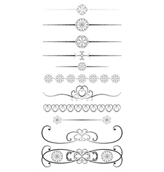 vintage dividers vector image vector image