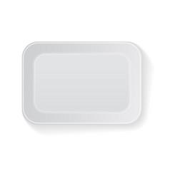 white rectangle blank styrofoam plastic vector image