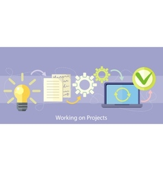Working on Project Management and Strategy vector image vector image