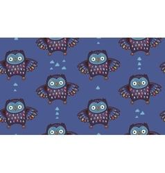 Indian seamless pattern of owl in vector