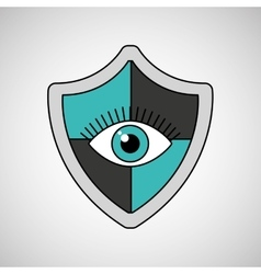 Eye surveillance protection shield vector