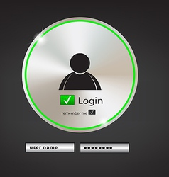 Login button 2 vector