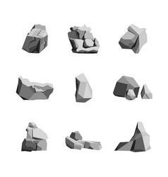 cartoon rocks and stones set vector image