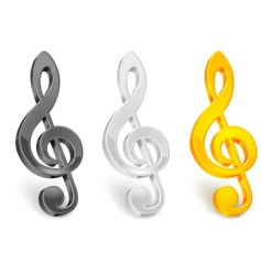Treble clef vector